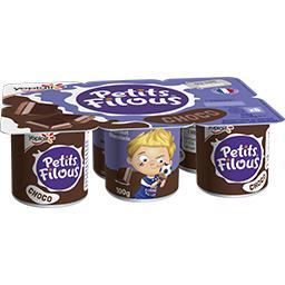 Yoplait Yoplait Petits Filous - Dessert chocolat les 6 pots de 100 g