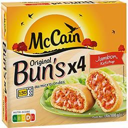 Mc Cain McCain Original Bun's jambon ketchup la boite de 4 - 400 g