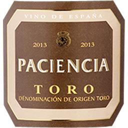 Espagne Paciencia - Toro vin Rouge 2013