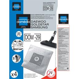 Sacs aspirateurs DOM-29 compatibles Daewoo, Goldstar...