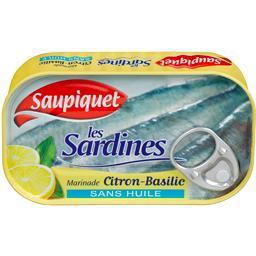 Les Sardines marinade citron basilic sans huile