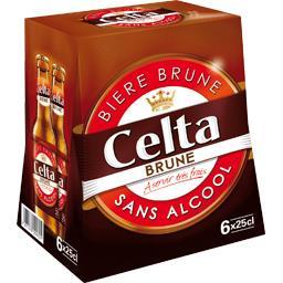 Bière brune sans alcool