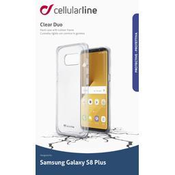 Coque silicone bi matière translucide Samsung Galaxy S8 Plus