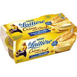 Nestlé La Laitière Crème aux œufs saveur vanille les 4 pots de 100 g