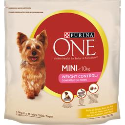 Purina One Purina One Croquettes Weight Control Mini pour chiens <10 kg le sac de 1,5 kg