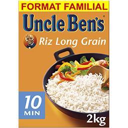 Uncle Ben's Uncle Ben's Riz long grain 10 minutes la boite de 2 kg