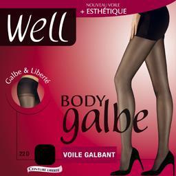 Body Galbe - Collant voile galbant noir T3