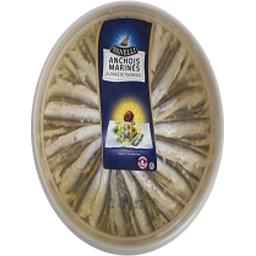 Anchois marinés à l'huile de tournesol