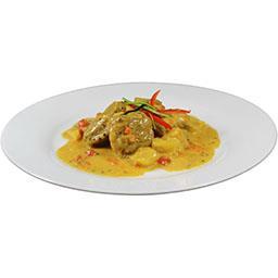 Colombo de porc et riz basmati cuisiné