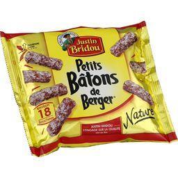 Justin Bridou Justin Bridou Le Bâton de Berger - Petits saucissons secs nature le paquet de 100 g