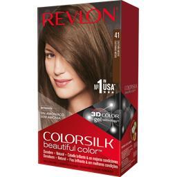 Revlon Color Silk - Coloration permanente 41 Châtain moyen la boite de 130 ml