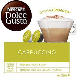Nescafé Nescafé Dolce Gusto - Capsules de Cappuccino la boite de 16 capsules - 186,4 g