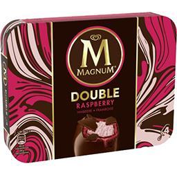 Magnum Magnum Glaces Double framboise la boite de 4 - 292 g
