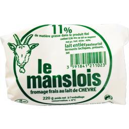 Le Manslois Fromage frais au lait de chèvre le fromage de 220 g