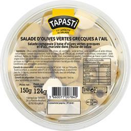 Tapasti Salade d'olives vertes grecques à l'ail la barquette de 124 g net égoutté