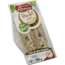 Mon Snack ! - Sandwich poulet rôti crudités maxi