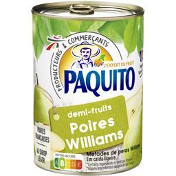 Poires Williams demi-fruits au sirop