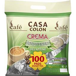Dosettes de café moulu Crema décaféiné