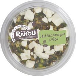 Salade lentilles, boulgour & féta