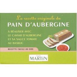Préparation originale pour pain d'aubergine