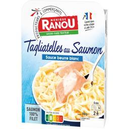Tagliatelles au saumon sauce beurre blanc