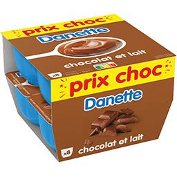 Danette - Crème dessert chocolat et lait