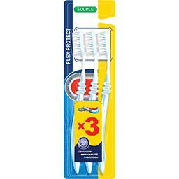 Aquafresh Aquafresh Brosse à dents Flex Protect souple les 3 brosses à dents