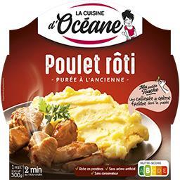 La Cuisine d'Océane La Cuisine d'Océane Plat cuisiné poulet rôti et sa purée à l'ancienne Barquette de 300g