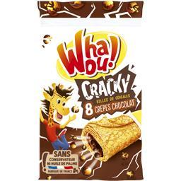 Whaou! Whaou! Crêpes chocolat Cracky & céréales croustillantes les 8 crêpes de 32 g