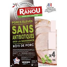 Monique Ranou Rôti de porc la barquette de 4 tranches - 140 g