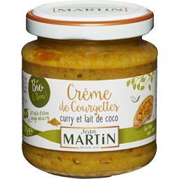 Crème de courgettes curry et lait de coco BIO