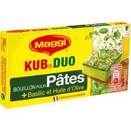 Bouillon Kub Duo pour pâtes basilic et huile d'olive