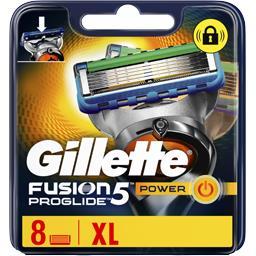 Gillette Gillette Fusion5 proglide power lames de rasoir pour homme 8recharges La boîte de  8 lames