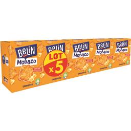 Belin Belin Monaco - Biscuits apéritif emmental les 5 boites de 100 g