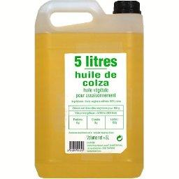 Huile de colza, huile végétale pour assaisonnement