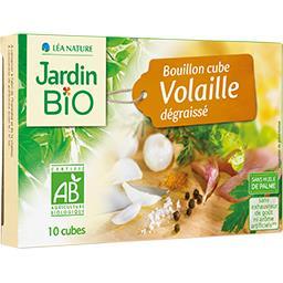 Jardin Bio Jardin Bio'logique Bouillon cube volaille dégraissé BIO les 10 cubes de 10 g