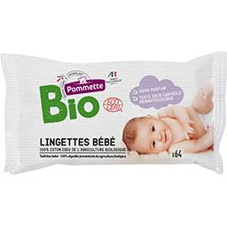 Lingettes bébé BIO
