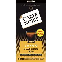Carte Noire Capsules de café moulu Espresso Lungo Classique n°6