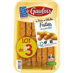 Le Gaulois Frites de poulet le lot de 3 barquettes de 200 g
