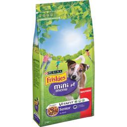 Friskies Croquettes Mini menu Vitafit Senior au bœuf pour chi... le sac de 2 kg