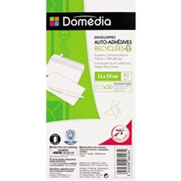 Enveloppes auto-adhésives recyclées 11x22 cm