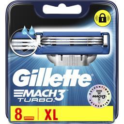 Gillette Gillette Mach3 turbo lames de rasoir pour homme 8recharges La boîte de 8 lames