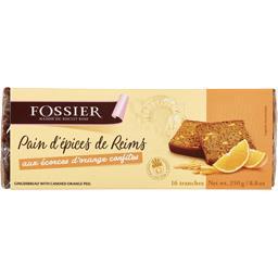 Fossier Pain d'épices de Reims aux écorces d'oranges confite... la boite de 16 tranches - 250 g