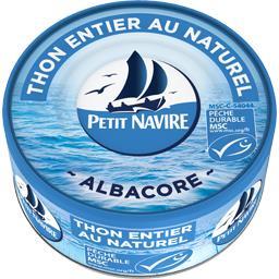 Petit Navire Petit navire Thon entier au naturel Albacore la boite de 112 g net égoutté