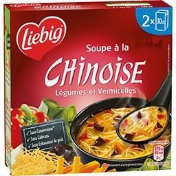 Liebig Liebig Soupe à la Chinoise légumes et vermicelles les 2 briques de 30 cl