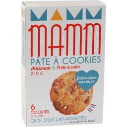 Pâte à cookies chocolat lait noisettes