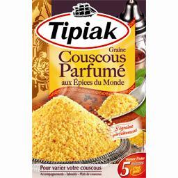 Graine de couscous parfumé aux épices du monde