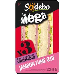 Sandwich jambon fumé œuf, pain viennois - Le Méga