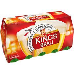 Kingsbräu Kingsbräu Bière les 10 bouteilles de 25 cl
