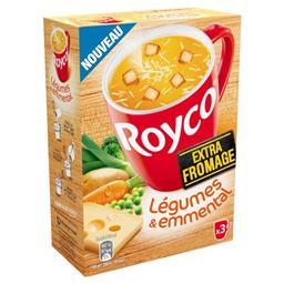 Royco Royco Légumes & emmental extra fromage les 3 sachets de 20,7 g